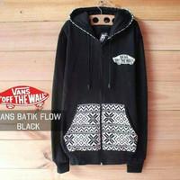 Jc- jaket vans batik flow hitam