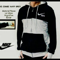 Jc- jaket nike black combi grey
