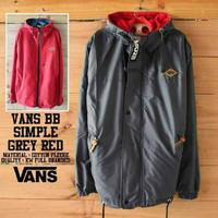 Jc- jaket vans bb simple grey red