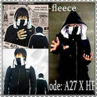 Jc- jaket ninja hitam putih