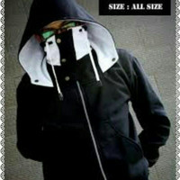 Jc- jaket ninja zero hitam putih