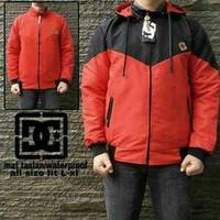 Jc- jaket dc bb despo hitam combi merah