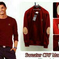 Jc- jaket sweater cr7 oblong maroon