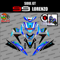 Sticker striping motor stiker Full Body Yamaha Mio Soul GT Lorenzo B