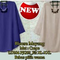 Blouse Mayang SW blouse wanita crepe warna cream dan navy Promo