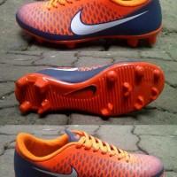 Sepatu futsal nike magista anak orange kombinasi hitam size 33-37