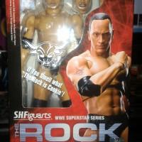 WWE BANDAI SHF THE ROCK DWAYNE JOHNSON MOC