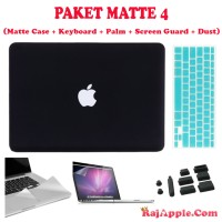Paket Case Macbook Matte + Palm + Screen Guard + Keyboard + Dust Plug