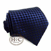 Dasi Neck Tie Slim Polos Wedding Best Man SQUARE BLUE DARK TIE - Navy, 2 inch