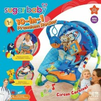 Sugar Baby Rocking Bouncer Premium Rocker Circus Carnival 10in1