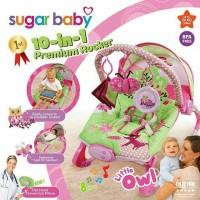 Sugar Baby Bouncer Premium Rocker Little Owl 10 in 1 NYAMAN