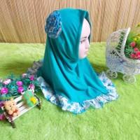 jilbab bayi 1-3th syiria bunga hijau tosca