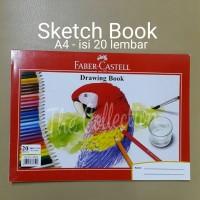 ATK300FC A4 Sketch Book Kertas Tebal Faber Buku Gambar Drawing 1740A4