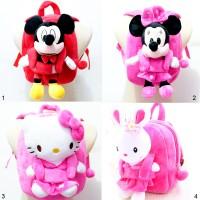 Tas Ransel Anak Boneka Rabbit Hello Kitty Mickey Minnie Mouse disney