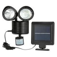 Solar Security 22 LED Body Sensor Gerak Lampu Tembak Tenaga Matahari
