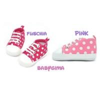 sepatu prewalker bayi dan anak polkadot sneakers anak