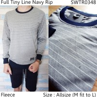 Sweater Full Tiny Line Navy Rip   Swater Pria   Sweater Rajut