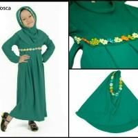 Baju Muslim Anak Set / Gamis Anak Set / Jilbab Anak Set - Hijau Tosca