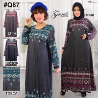 [big size] GAMIS longdress jumbo denim jersey