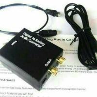 Digital audio converter to analog + kabel optik