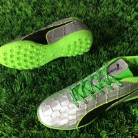 Sepatu Futsal Puma EvoTOUCH 3 TF - Silver Green