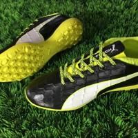 Sepatu Futsal Puma EvoTOUCH 3 TF - Black Safety Yellow