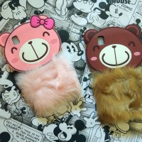 Oppo F1 F1f 3D Rabbit Fur Bear Flurry Soft Silikon Sarung Case Casing