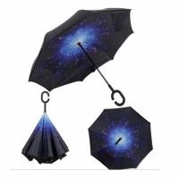 Payung Terbalik / Kazbrella Gagang C reserse Umbrella Motif langit