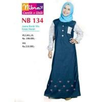 Nibras NB134 Gamis Jeans, tersedia 2 pilihan warna