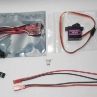 Combo ESC Brushed 20A Mini With Brake + Micro Servo Tower MG90s + JST