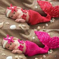 Kostum rajut photo bayi mermaid