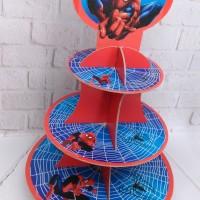 cupcake stand spiderman / cupcake tier spiderman 3 tier