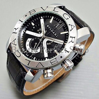 Ngetrend Jam Tangan Pria / Cowok Bvlgari X Ray Automatic Leather Black