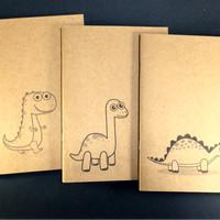 buku tulis anak   A5   kraft   notebook   dinosaurus   bookpaper  