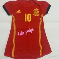 Dress baju bola anak perempuan/ spanyol