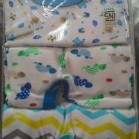 LIBBY SLEEPSUIT PREMIUM 3IN1 (JUMPER TUTUP KAKI) 6-9m Boy