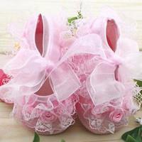 Sepatu Bayi Perempuan Prewalker Pink Lace