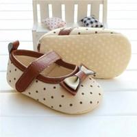 Sepatu Prewalker Bayi Perempuan Brown Polkadot Berkualitas
