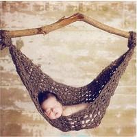 Kostum rajut foto bayi (hammock)