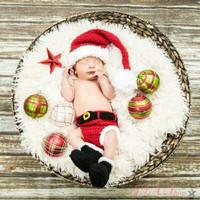 Kostum rajut foto bayi #Santa set