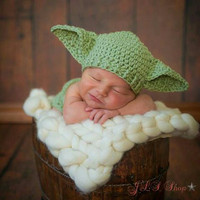 Kostum rajut foto bayi #Master yoda