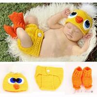 Kostum rajut foto bayi #Duck set