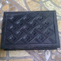 Kotak Kayu Ukir Tempat Perhiasan Batu Cincin Permata Akik 21x15x5 cm