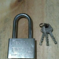 Kunci Gembok Pintu Pagar Rolling Door Toko 60mm Panjang Finder 60L