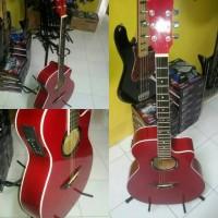 Gitar akustik elektrik yamaha axp red chilie