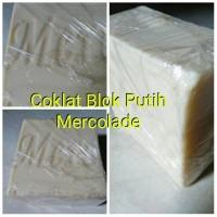 Coklat Blok Putih/Coklat Putih Compound+Mercolade 250gr+Untuk Topping