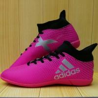 Sepatu Futsal Adidas Techfit X Boots Pink (Komponen Impor)