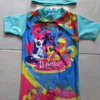 Baju Renang Bayi Topi Karakter My Little Pony