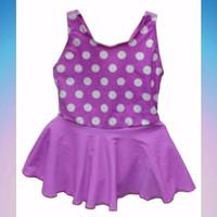 Baju Renang Bayi Perempuan Polkadot Purple