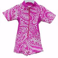 baju renang bayi perempuan pink resleting
